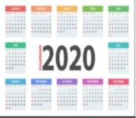 2020 Event Calendar – updated on 27 May 2020